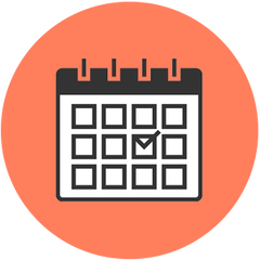 orange icon of calendar